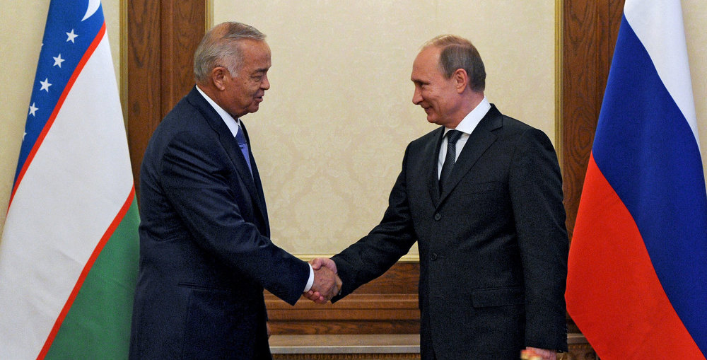Russian President Vladimir Putin met with President of Uzbekistan Islam Karimov