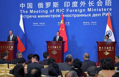 Встреча министров иностранных дел Российской Федерации, Республики Индия и Китайской Народной Республики (РИК)