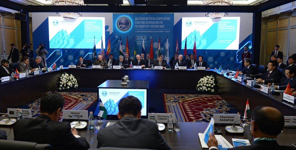 上合组织成员国安全会议秘书讨论地区稳定和安全问题