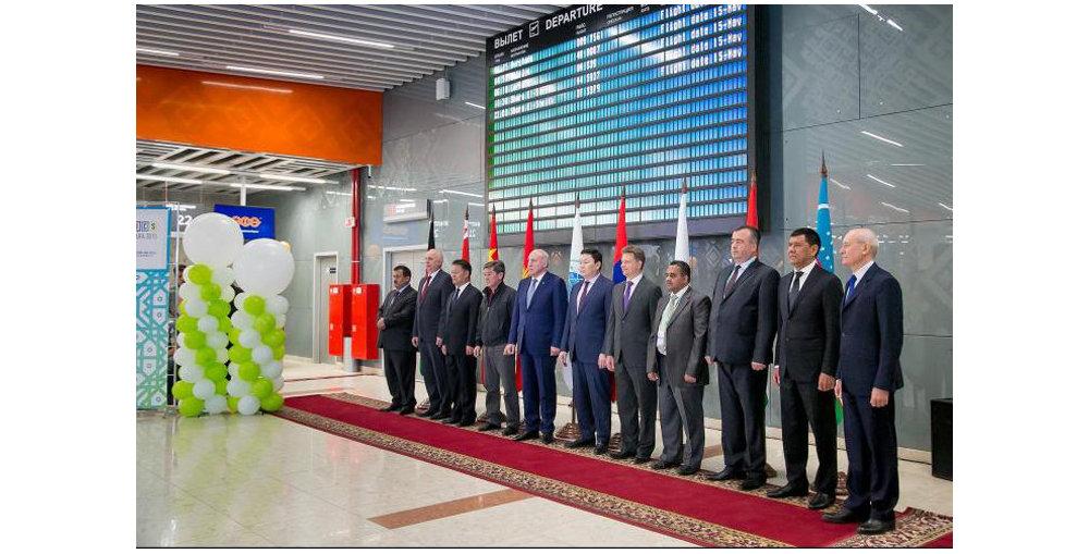 Церемония открытия международного терминала аэропорта Уфа
