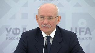 Брифинг главы Республики Башкортостан Рустэма ХАМИТОВА на саммите ШОС/БРИКС (eng)