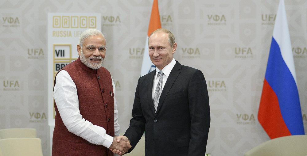 俄罗斯总统普京与印度总理穆迪举行会晤