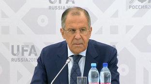 Брифинг Министра иностранных дел России Сергея Лаврова_англ