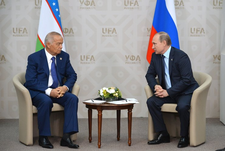 President of the Russian Federation Vladimir Putin meets with President of Uzbekistan Islam Karimov
