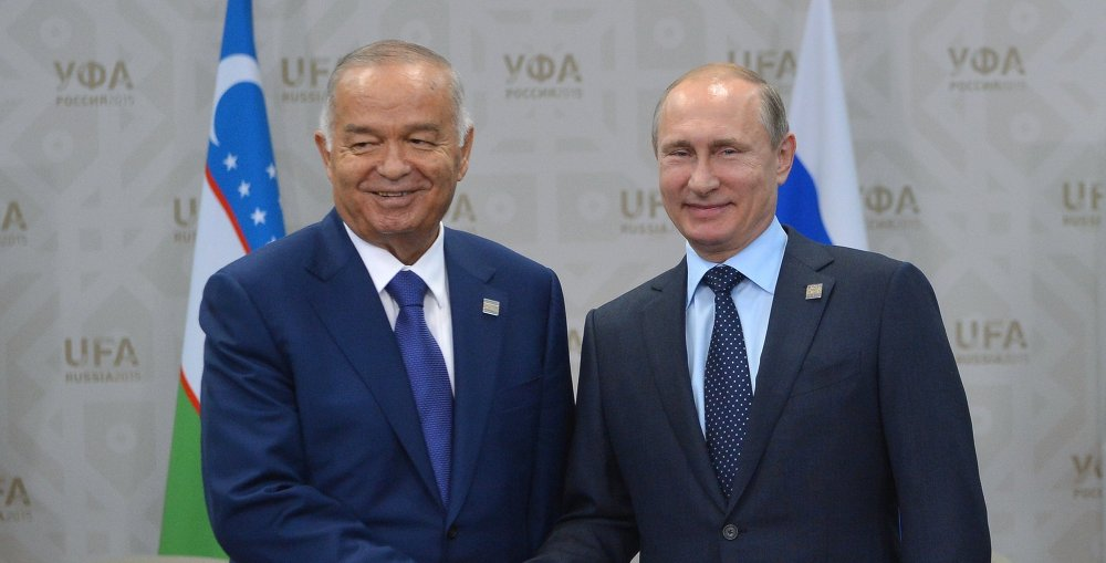 Беседа Президента Российской Федерации Владимира Путина с Президентом Узбекистана Исламом Каримовым