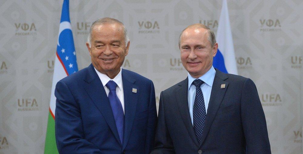 俄罗斯总统普京与乌兹别克斯坦总统卡里莫夫举行会晤