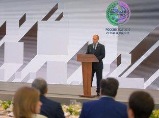Прием от имени Президента Российской Федерации Владимира Путина по случаю проведения заседания Совета глав государств-членов ШОС