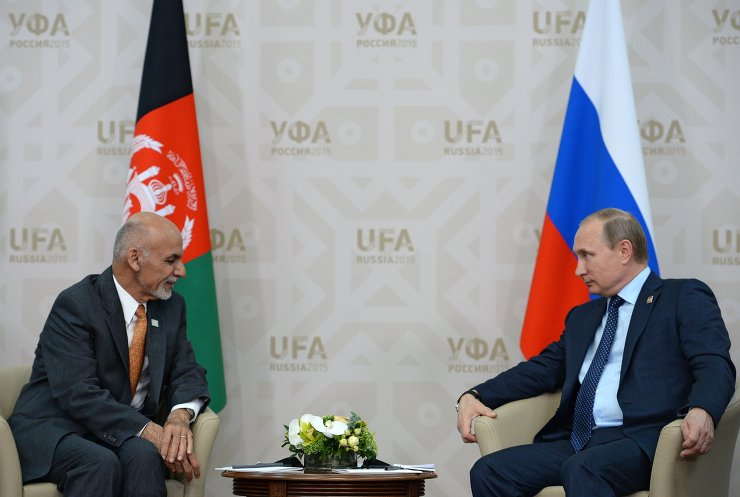 Беседа Президента Российской Федерации Владимира Путина с Президентом Исламской Республики Афганистан Ашрафом Гани Ахмадзаем