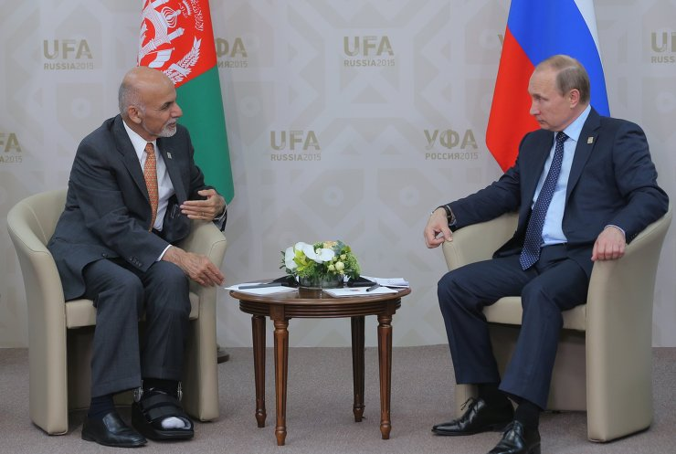 President of the Russian Federation Vladimir Putin meets with President of the Islamic Republic of Afghanistan Ashraf Ghani Ahmadzai