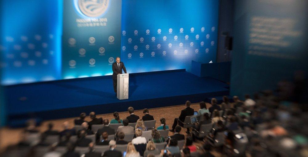 俄罗斯联邦总统普京就上合组织峰会和金砖国家峰会成果举行新闻发布会