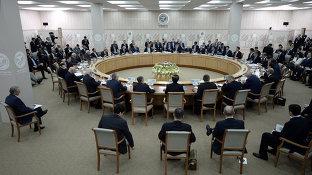 Заседание глав ШОС в расширенном составе (рус)