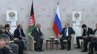 Беседа Президента России Владимира Путина с Президентом Афганистана Ашрафом Гани