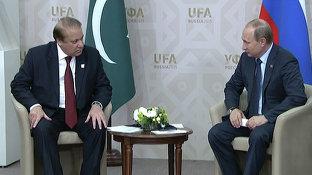 Беседа Президента России Владимира Путина с Премьер-министром Пакистана Навазом Шарифом